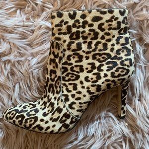 Sam Edelman Leopard Real Calf Hair Ankle Booties